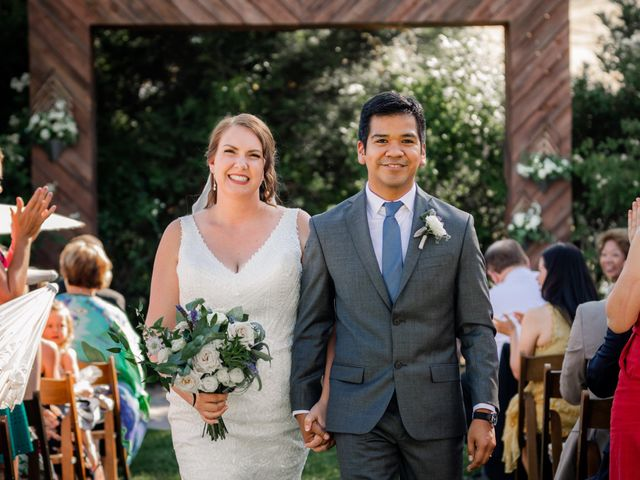 The wedding of Melissa and George
