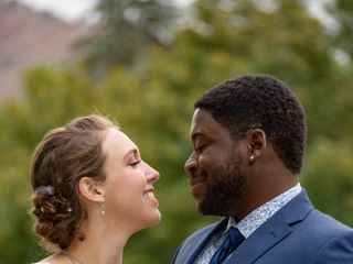 The wedding of Emily and De'Vante 1