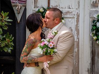 The wedding of Chris and Brie