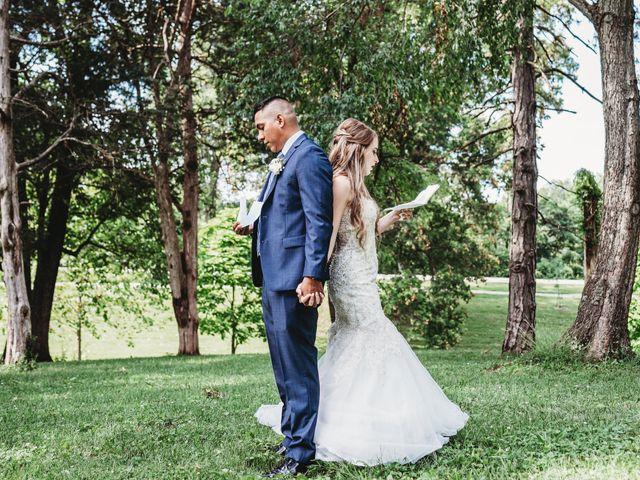 The wedding of Mariah and Jose