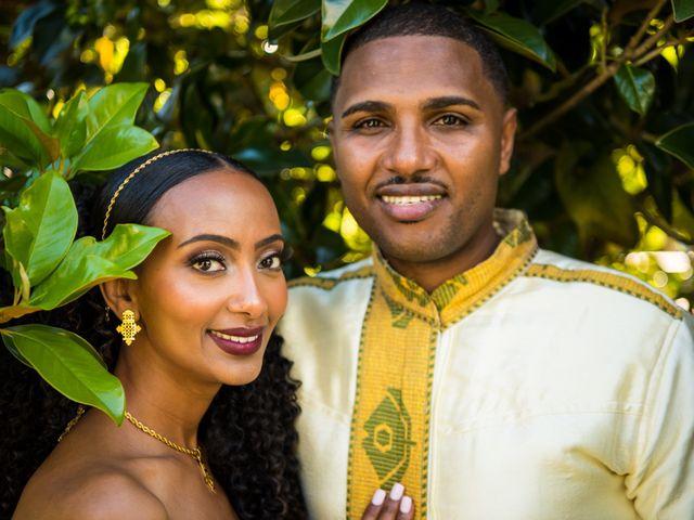 The wedding of Amsalu and Naomi