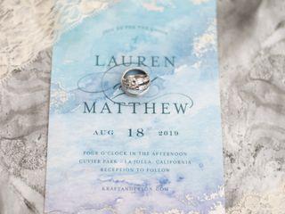 The wedding of Lauren and Matt 1