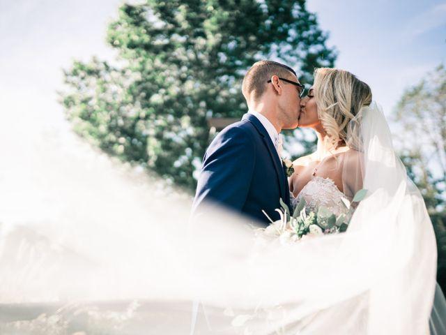 The wedding of Elizabeth and David