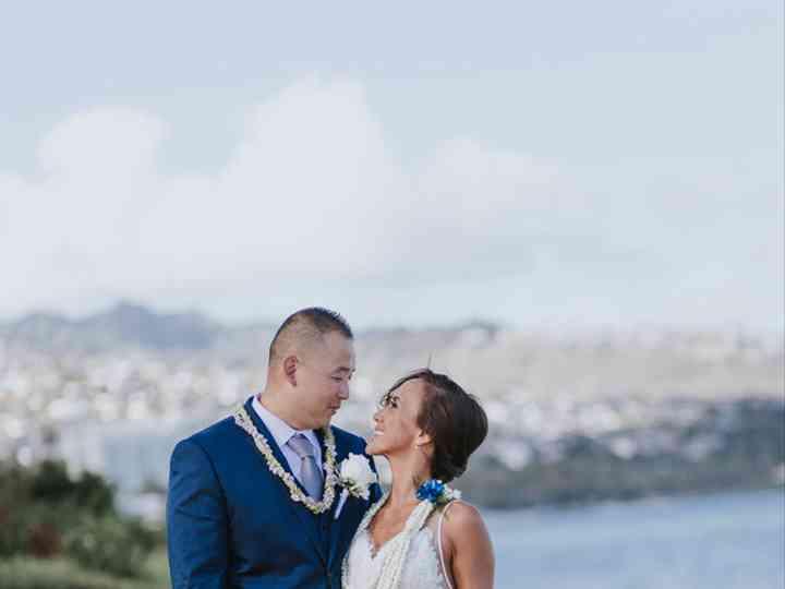 The wedding of Derek and Kamalani
