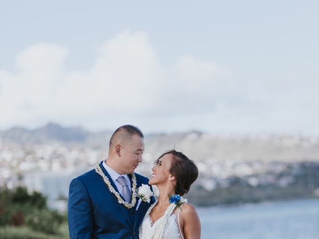 The wedding of Derek and Kamalani