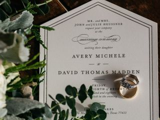 The wedding of Avery and David 1