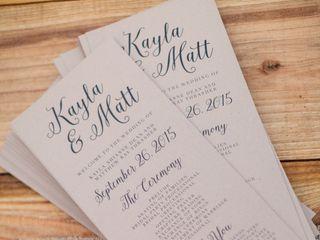 The wedding of Matthew and Kayla 2