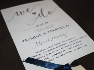 The wedding of Jasmine and Marvin 1