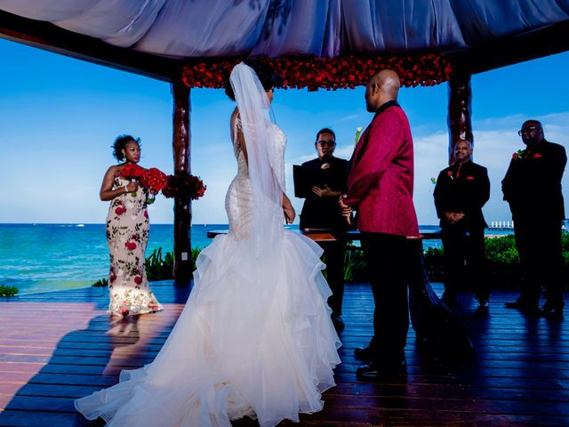 Willie and Tawanda's Wedding in Playa del Carmen, Mexico 125