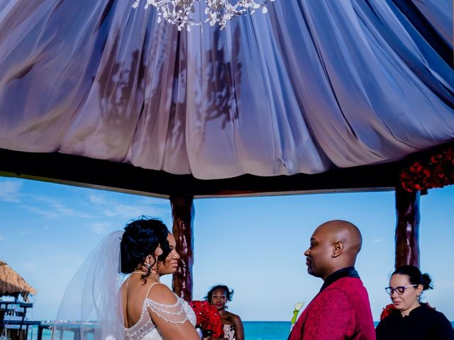 Willie and Tawanda's Wedding in Playa del Carmen, Mexico 126