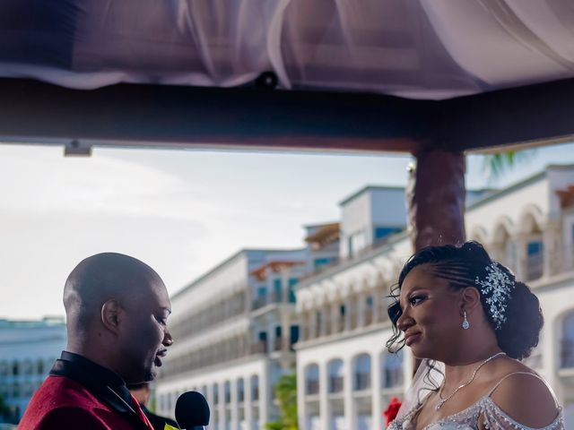 Willie and Tawanda's Wedding in Playa del Carmen, Mexico 129