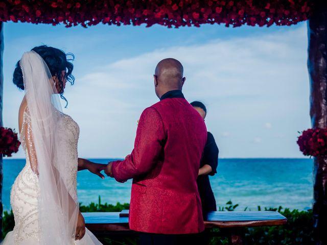 Willie and Tawanda's Wedding in Playa del Carmen, Mexico 133