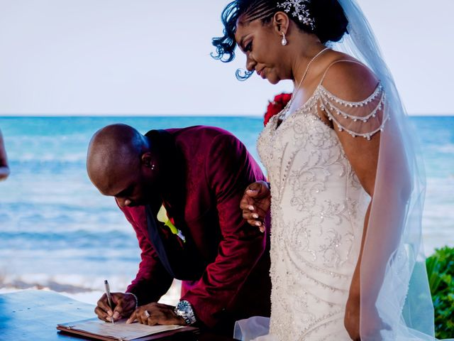 Willie and Tawanda's Wedding in Playa del Carmen, Mexico 138