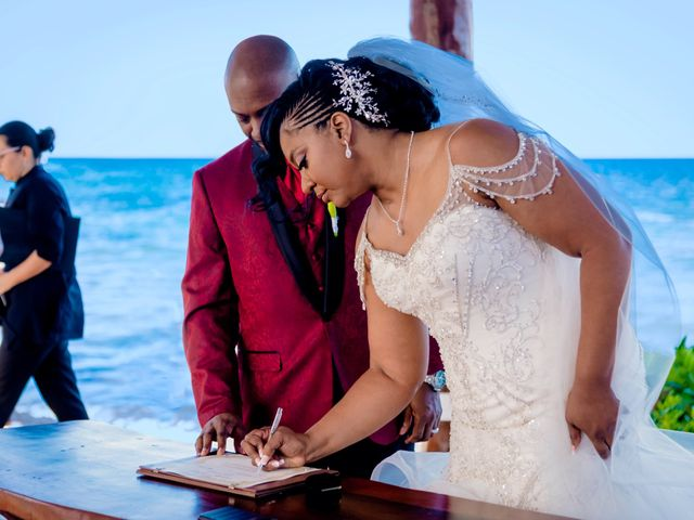 Willie and Tawanda's Wedding in Playa del Carmen, Mexico 139