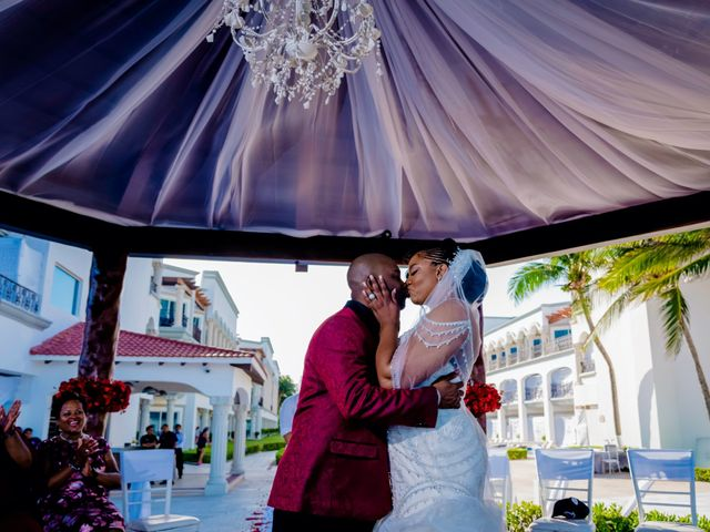Willie and Tawanda's Wedding in Playa del Carmen, Mexico 144