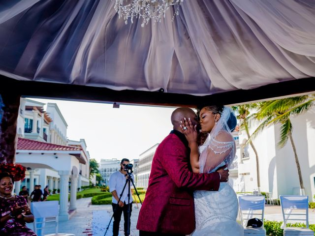 Willie and Tawanda's Wedding in Playa del Carmen, Mexico 145