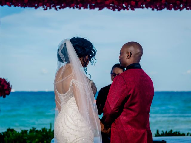 Willie and Tawanda's Wedding in Playa del Carmen, Mexico 146