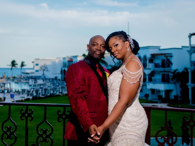 Willie and Tawanda's Wedding in Playa del Carmen, Mexico 174