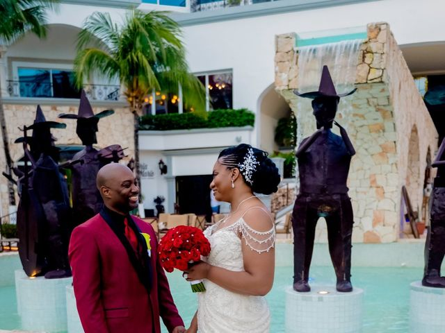 Willie and Tawanda's Wedding in Playa del Carmen, Mexico 180