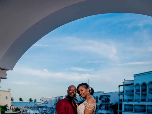 Willie and Tawanda's Wedding in Playa del Carmen, Mexico 183