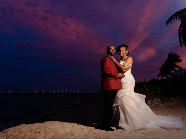 Willie and Tawanda's Wedding in Playa del Carmen, Mexico 206