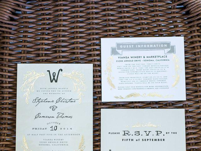 Stephanie and Cameron's Wedding in Sonoma, California 1