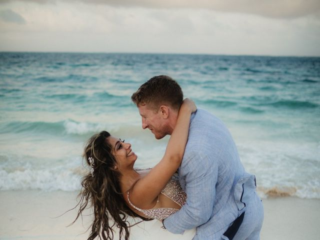 Layla and Kevin's Wedding in Cancun, Mexico 37