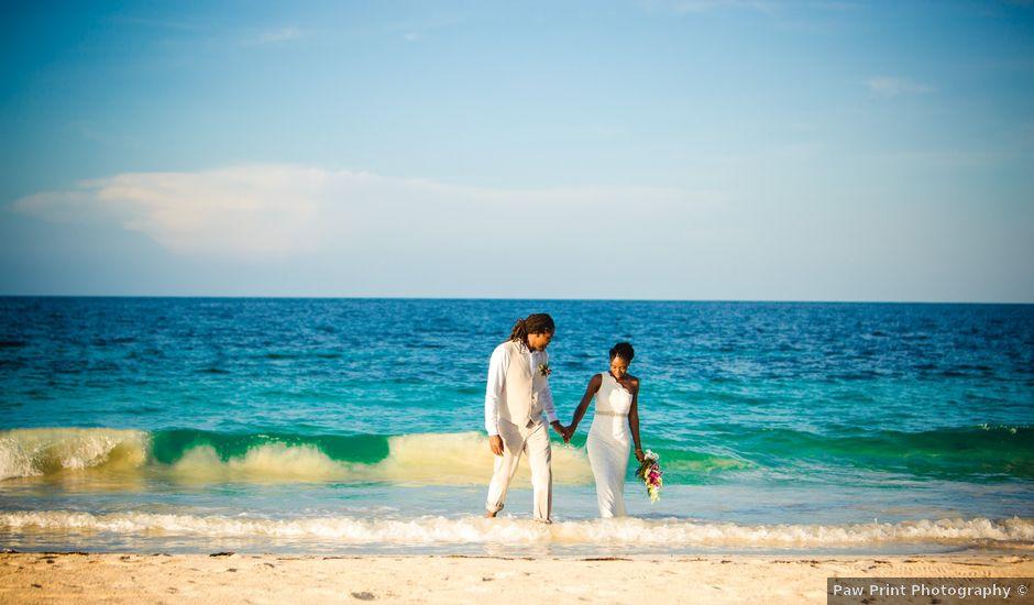 Stefan and Arkalia's Wedding in Silver Sands, Jamaica