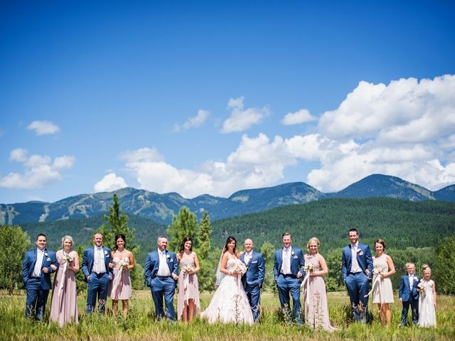 Tia and James's Wedding in Whitefish, Montana 8