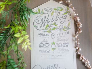 The wedding of Kristen and Adrian 1
