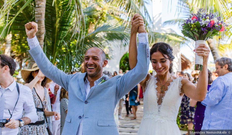 Gabriel and Shinkari's Wedding in Playa del Secreto, Mexico