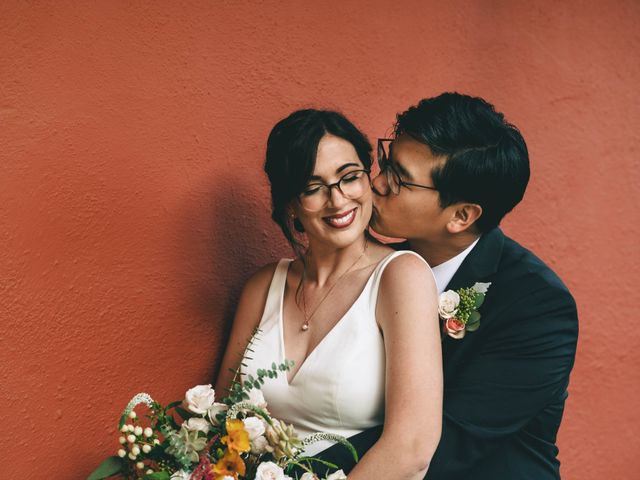 The wedding of Oliva and John