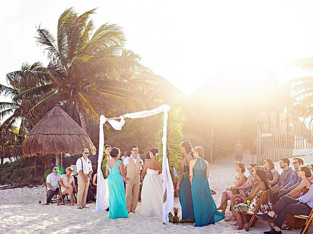 Mike and Brooke's Wedding in Tulum, Mexico 32
