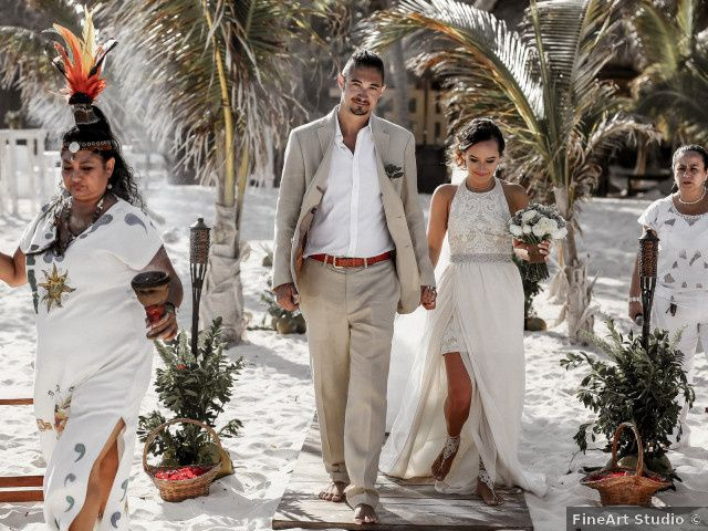 Brian and Brittany's Wedding in Tulum, Mexico