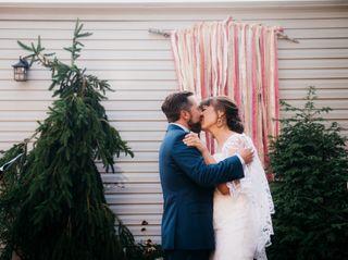 The wedding of Elizabeth and Tom