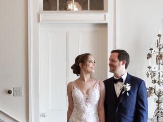 The wedding of Christine and Brad