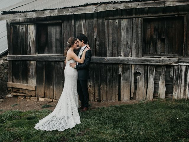 The wedding of Andrea and John