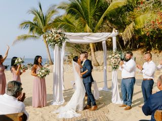 The wedding of Anjelica and Ross