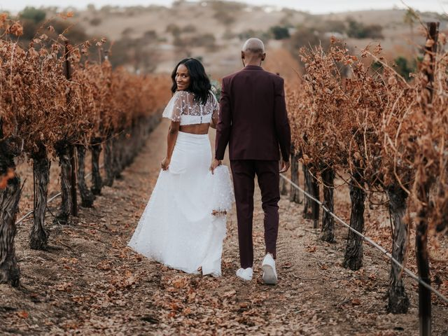 The wedding of Delena and Calvin