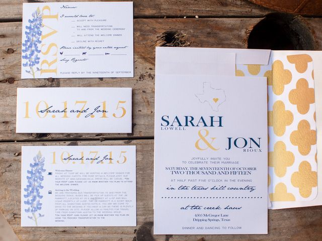 Sarah and Jon's Wedding in Dripping Springs, Texas 1