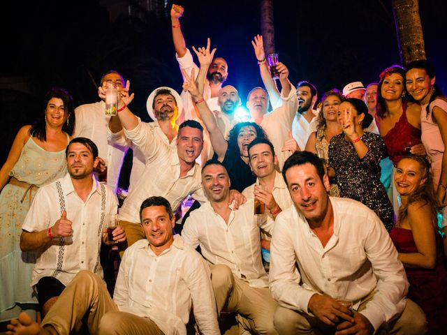 Alex and Hilde's Wedding in Cancun, Mexico 74