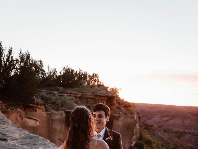 David  and Rebekah 's Wedding in Canyon, Texas 8