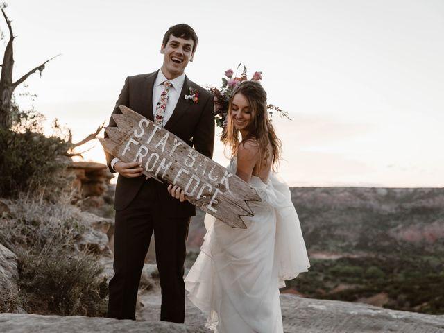 David  and Rebekah 's Wedding in Canyon, Texas 15
