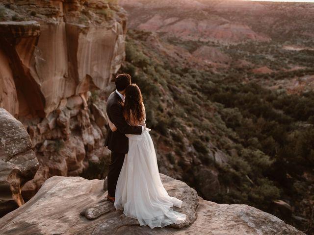 David  and Rebekah 's Wedding in Canyon, Texas 22