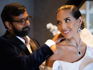The wedding of Megan  and Satish