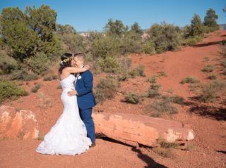 The wedding of Sophie and Mariah