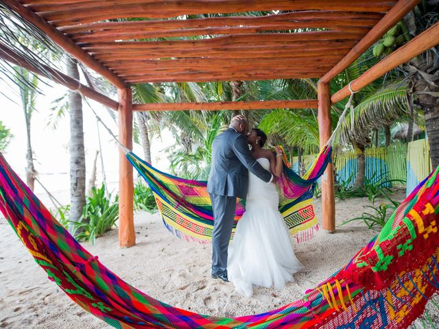 Colberte and Bryan's Wedding in Cancun, Mexico 29