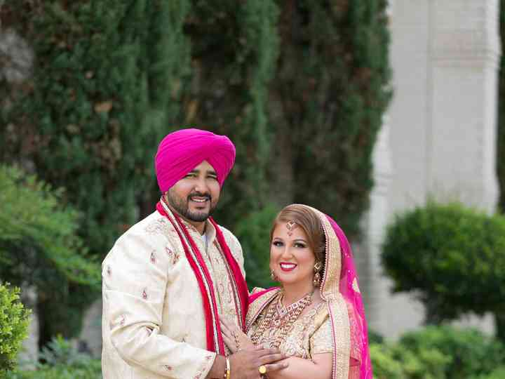 The wedding of Amandeep and Britny