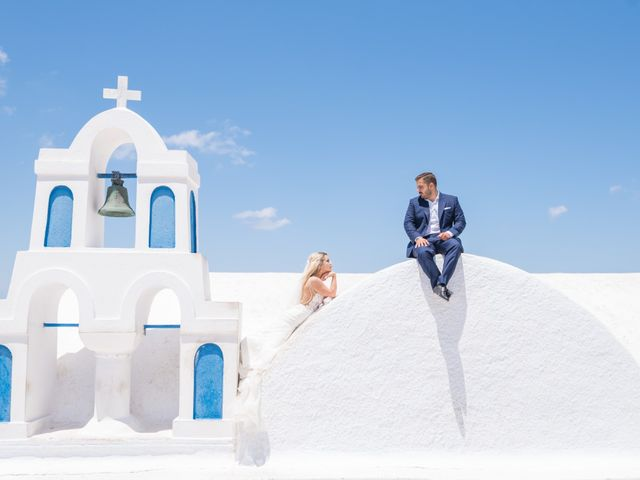 Argyro and Dimitris's Wedding in Santorini, Greece 1