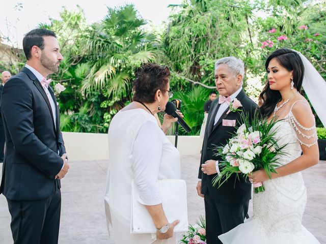 Stephen and Michelle's Wedding in Cancun, Mexico 64